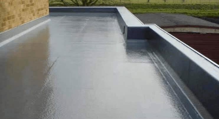 new flat roofing finish